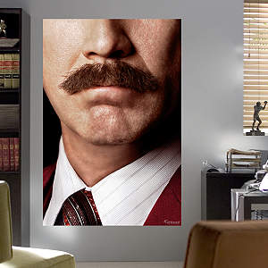 Ron Burgundy Moustache Mural Fathead Wall Decal