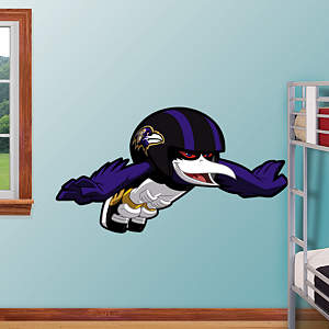 Baltimore Ravens Rusher Fathead Wall Decal