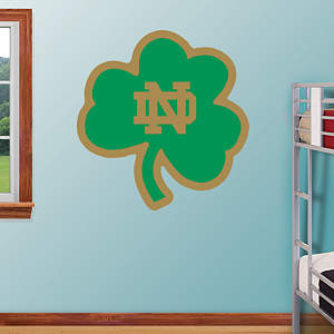 "Notre Dame Fighting Irish - Green ""ND"" Logo Fathead Wall Decal"