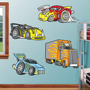 Race Cars Fathead Wall Decal