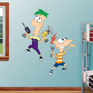 Phineas and Ferb Fathead Wall Decal