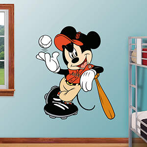 Mickey Mouse - San Francisco Giant Fathead Wall Decal