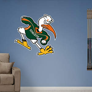 Miami Hurricanes Mascot - Sebastian Fathead Wall Decal
