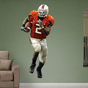 Willis McGahee Miami Fathead Wall Decal