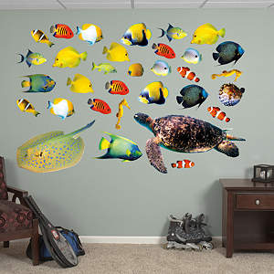 Tropical Fish Fathead Wall Decal