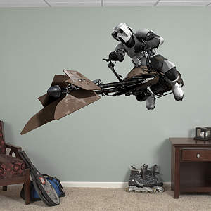 Scout Trooper - Speeder Bike Fathead Wall Decal