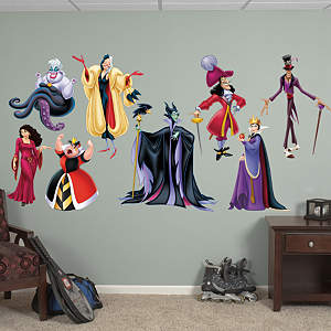 Disney Villains Collection Fathead Wall Decal