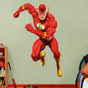 The Flash in Action Fathead Wall Decal