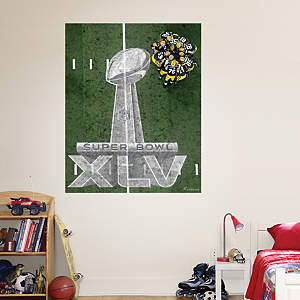 Green Bay Packers - Super Bowl XLV 25 Yard Line Mural Fathead Wall Decal