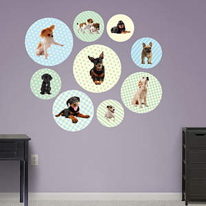 Puppy Circles Fathead Wall Decal
