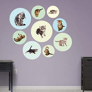 Kitten Circles Fathead Wall Decal