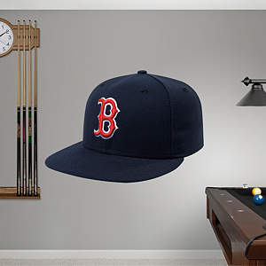 Boston Red Sox Cap Fathead Wall Decal