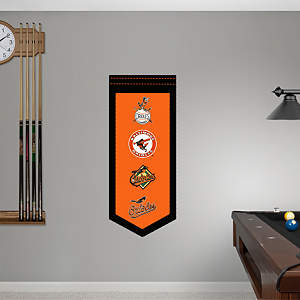 Baltimore Orioles Logo Evolution Banner Fathead Wall Decal