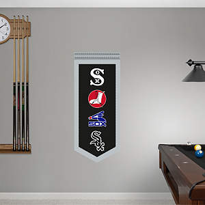 Chicago White Sox Logo Evolution Banner Fathead Wall Decal