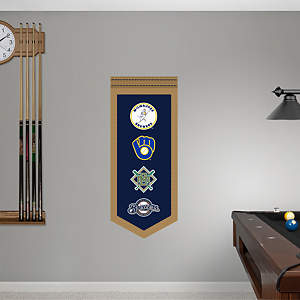 Milwaukee Brewers Logo Evolution Banner Fathead Wall Decal