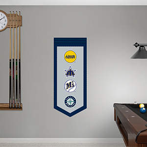 Seattle Mariners Logo Evolution Banner Fathead Wall Decal