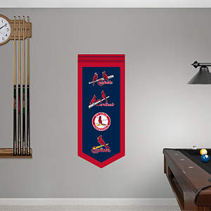 St. Louis Cardinals Logo Evolution Banner Fathead Wall Decal