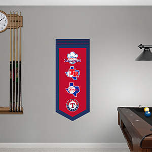Texas Rangers Logo Evolution Banner Fathead Wall Decal