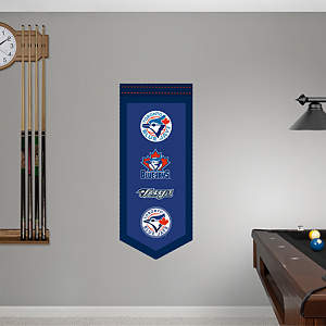 Toronto Blue Jays Logo Evolution Banner Fathead Wall Decal