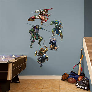Teenage Mutant Ninja Turtles Movie Collection Fathead Wall Decal