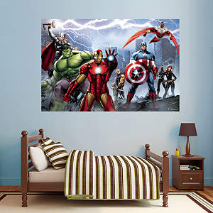 Avengers Assemble Mural Fathead Wall Decal