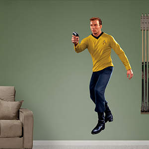 Captain James T. Kirk Fathead Wall Decal
