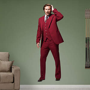 Ron Burgundy - Anchorman 2 Fathead Wall Decal