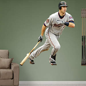 Joe Mauer at Bat Fathead Wall Decal