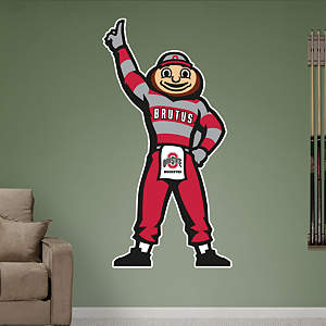 Ohio State Mascot - Brutus Buckeye Fathead Wall Decal