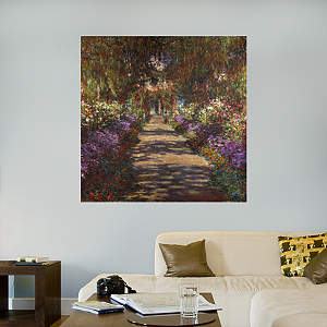 The Artist's Garden at Giverny by Claude Monet Fathead Wall Decal