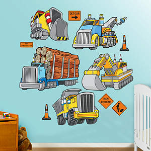 Work Trucks Fathead Wall Decal