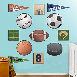 Sports Collection Fathead Wall Decal