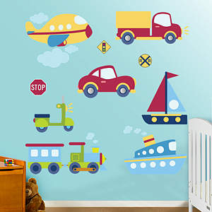 Vehicles Collection Fathead Wall Decal