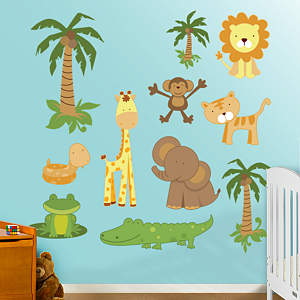 Zoo Collection Fathead Wall Decal