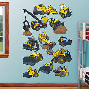 Tonka Construction Truck Collection Fathead Wall Decal