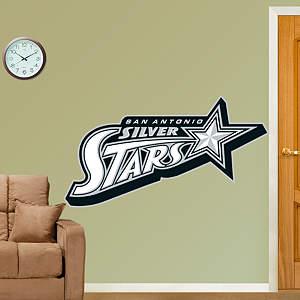 San Antonio Silver Stars Logo Fathead Wall Decal
