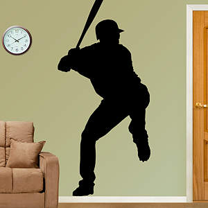 Baseball Player Silhouette Fathead Wall Decal