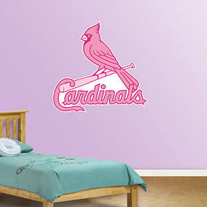 St. Louis Cardinals Pink Logo Fathead Wall Decal