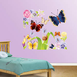Butterflies Group One Fathead Wall Decal