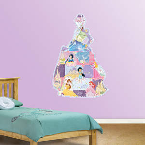 Disney Princess Montage Fathead Wall Decal