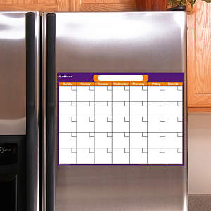 Purple & Orange Dry Erase Small Blank Month Calendar  Fathead Decal