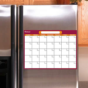 Cranberry & Orange Dry Erase Small Blank Month Calendar  Fathead Decal