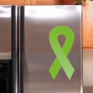 Lime Green Awareness Ribbon Fathead Decal
