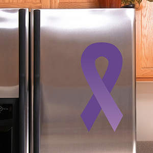 Purple Awareness Ribbon Fathead Decal