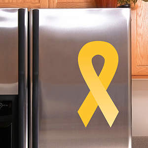 Yellow Awareness Ribbon Fathead Decal
