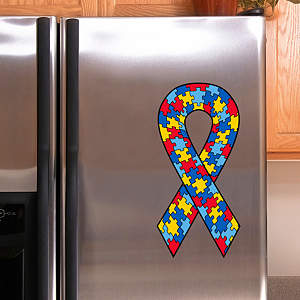 Puzzle Pieces Awareness Ribbon Fathead Decal