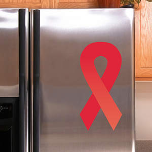 Red Awareness Ribbon Fathead Decal