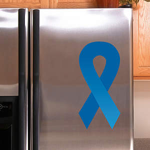 Blue Awareness Ribbon Fathead Decal