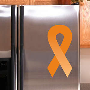 Orange Awareness Ribbon Fathead Decal