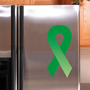 Green Awareness Ribbon Fathead Decal